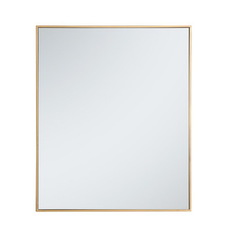 Metal frame rectangle mirror 30 inch in Brass (758|MR43036BR)