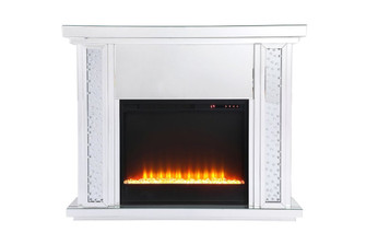 47.5 in. Crystal mirrored mantle with crystal insert fireplace (758 MF9901-F2)