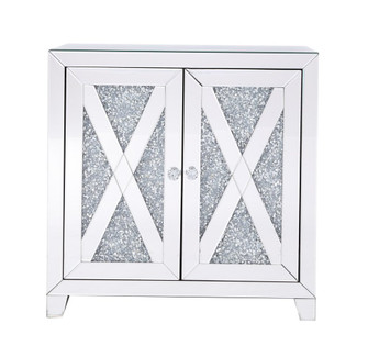 28 in silver crystal mirrored two door cabinet (758|MF92052)