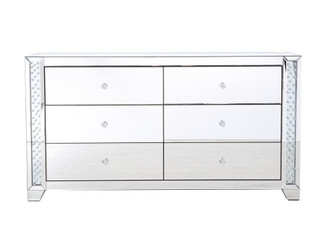 60 in clear crystal mirrored six drawer cabinet (758|MF91055)