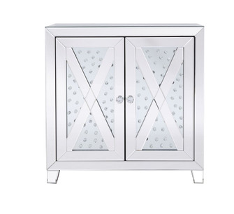 28 in clear crystal mirrored two door cabinet (758|MF91051)