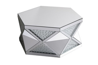 39.5 in crystal mirrored coffee table (758 MF91033)