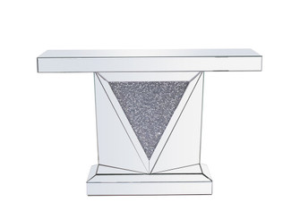47 inch Rectangle Crystal Console TableSilver Royal Cut Crystal (758 MF92009)