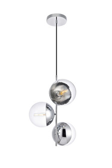 Eclipse 3 Lights Chrome Pendant With Clear Glass (758 LD6125C)
