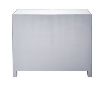 Chest 3 drawers 40in. W x 16in. D x 32in. H in antique silver paint (758|MF72019)