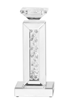 Sparkle 6 in. Contemporary Crystal Candleholder in Clear (758 MR9111)
