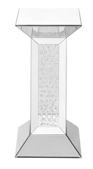 12 inch Crystal End Table in Clear Mirror Finish (758 MF91015)