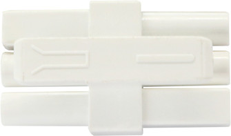 UNDER CABINET LINK END TO END CONNECTOR frosted white (758|UCLEECWH)