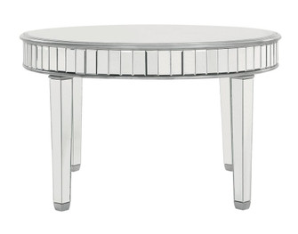 Round Dining Table 48 in. x 30 in. in silver paint (758 MF6-1008S)