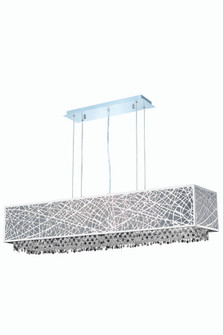 1791 Moda Collection Hanging Fixture w/ Metal Shade L48.5in W12.5in H11in Lt:8 Chrome Finish (Swarov (758|1791D48C-CL03/SS)