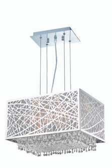 1791 Moda Collection Hanging Fixture w/ Metal Shade L17in W12.5in H11in Lt:2 Chrome Finish (Swarovsk (758|1791D17C-CL03/SS)