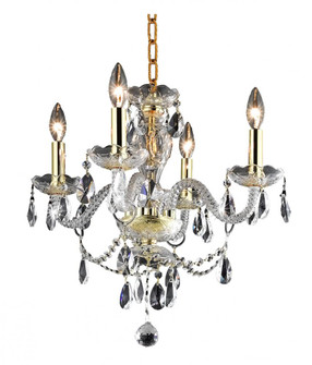 7834 Princeton Collection Hanging Fixture D17in H18in Lt:4 Gold Finish (Royal Cut Crystal Clear) (758|7834D17G/RC+SH)