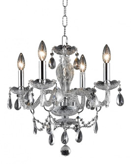 7834 Princeton Collection Hanging Fixture D17in H18in Lt:4 Chrome Finish (Royal Cut Crystal Clear) (758|7834D17C/RC+SH)