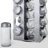 Gems Revolving Metallic Spice Rack with 16 90ML Jars, Quartz