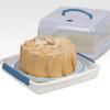 Lock & Lock Square Cake Box - Clear/Blue, 12.6 L