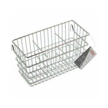 Apollo Chrome Drainer Cutlery Caddy With Hooks, 19 x 10 x 12 cm