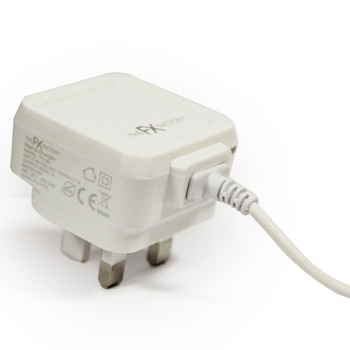 Powabud 8 Pin Mains Charger for iPhone 5/5S/5C/iPad/iPod Touch 5G/Nano 7G - White