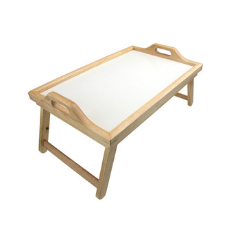 Rubber Wood Bed Tray with Folding Legs