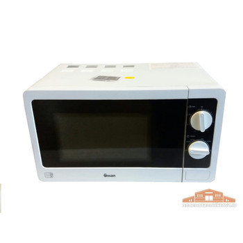 Swan 700w White Microwave 20 Liter with Manual Controls
