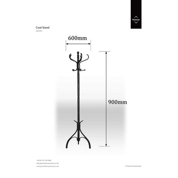 Floorstanding Coat Stand - 183 cm, Matt Black