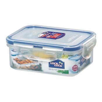 Lock and Lock Rectangular Plastic Food Container 350ml 2Pack