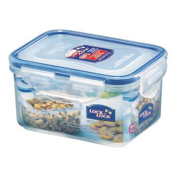 Lock and Lock Rectangular Plastic Food Container 470ml 2pack