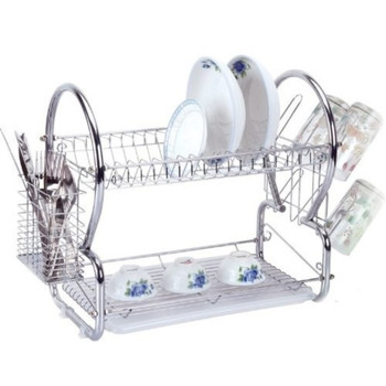 Chrome Plated Double tier Dish drainer