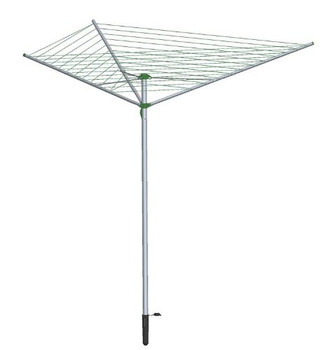 30m Silver Rotary Airer With 3 Arms