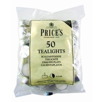 Patent Candles White Tealights Bag of 50