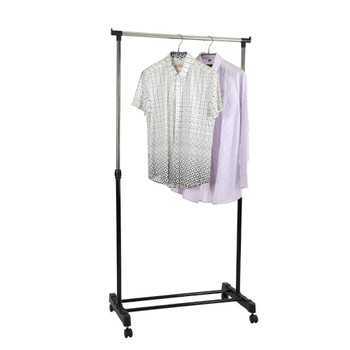 Single Garment Rack Adjustable Clothes Rail