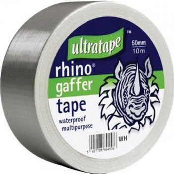 Rhino tape 50mm 50m Multipurpose Water Proof Gaffer Tape Grey