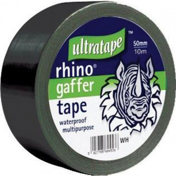 Rhino tape 50mm 50m Multipurpose Water Proof Gaffer Tape Black
