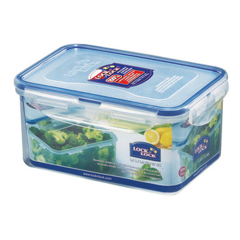 Lock and Lock Rectangular Plastic Food Container 1.1ltr 2Pack