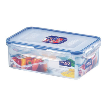Lock and Lock Rectangular Plastic Food Container 1ltr 2Pack