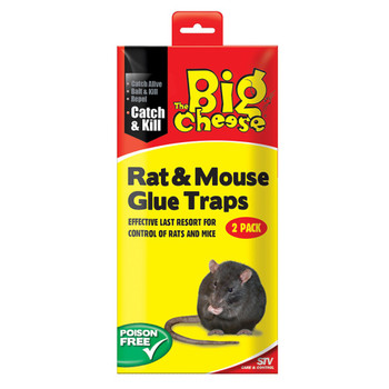The Big Cheese Rat Glue Traps Twin Pack