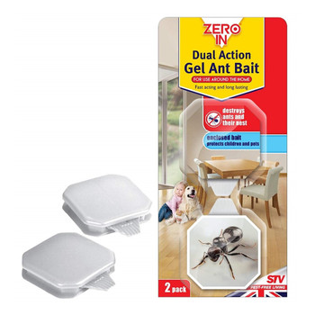 Zero In Dual Action Ant Bait Station Gel Trap Twin Pack