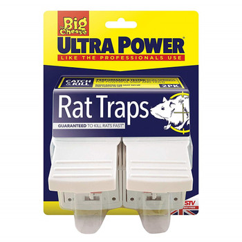 The Big Cheese Ultra Power Rat Traps Ready Baited Twin Pack