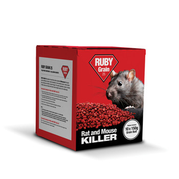 Lodi Ruby Grain 25 Rat and Mouse Killer Poison Difenacoum 1.5Kg