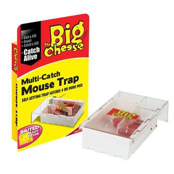 The Big Cheese Live Multi-Catch Mouse Trap Ready Baited