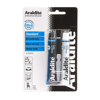 Araldite Epoxy Glue Standard 2 x 15ml Tube Adhesive