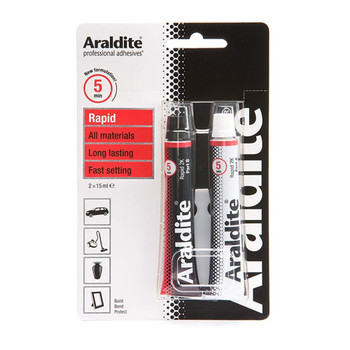 Araldite Epoxy Glue Rapid 2 x 15ml Tube Adhesive