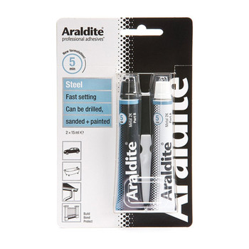 Araldite Epoxy Glue Steel 2 x 15ml Tube Adhesive