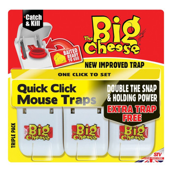 The Big Cheese Quick Click Mouse Traps Triple Pack