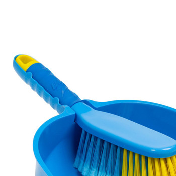 Flash Blue Plastic Dustpan and Sweeping Brush Set