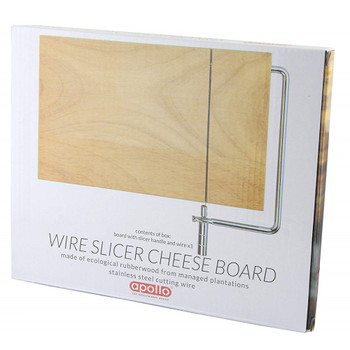 Apollo Rubber Wood Cheese Board with Wire