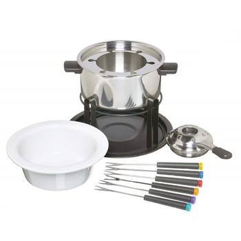 KitchenCraft 3-in-1 Fondue Set for Chocolate, Meat and Cheese, 6 Person