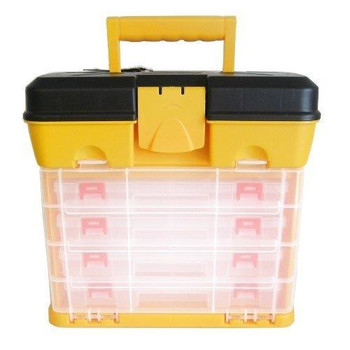 Blackspur Fishing Tackle Box Art Craft Hobby Tool Organiser Case With Handle