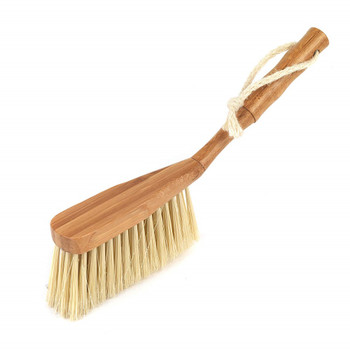Beldray Metal Dustpan and Bamboo Handled Brush Set with Plastic Bristles