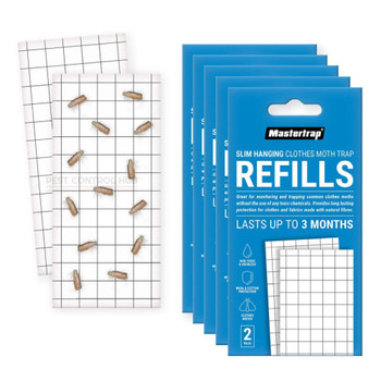 5 x Pheromone Refill Pad for Clothes Moth Trap 2 Pack
