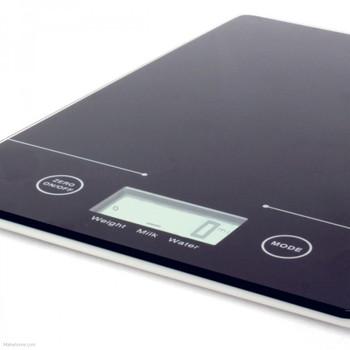 Sabichi Digital Slimline design Kitchen Scale Auto Off, 5kg, Black